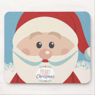Cute Santa Claus Face with Big Nose Mousepad
