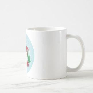 Cute Santa Claus Gift Circle Coffee Mug