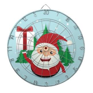 Cute Santa Claus Gift Circle Dartboard