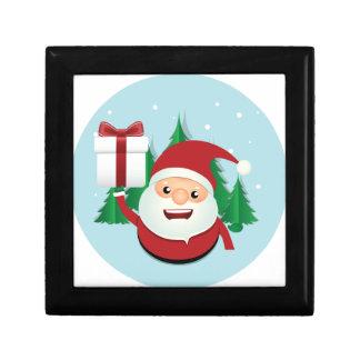 Cute Santa Claus Gift Circle Jewelry Box
