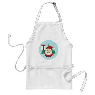 Cute Santa Claus Gift Circle Standard Apron