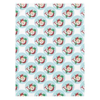 Cute Santa Claus Gift Circle Tablecloth
