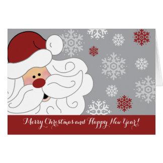 Cute Santa Claus Holiday Customized Folding Card