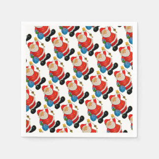 Cute Santa Claus Pattern Christmas Party Paper Napkins
