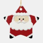 Cute Santa Claus Star Ornament