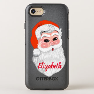 "Cute ""Santa Claus"" with name OtterBox Symmetry iPhone 8/7 Case"