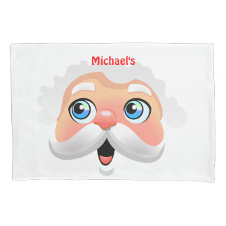 Cute Santa Claus With Rosy Cheeks Pillowcase