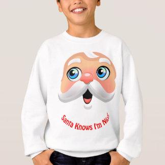 Cute Santa Claus With Rosy Cheeks Sweatshirt