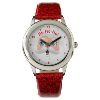 Cute Santa Claus With Rosy Cheeks Wrist Watches