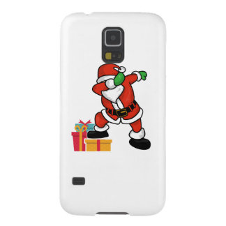Cute Santa dabbing on gift Christmas T Shirt Case For Galaxy S5