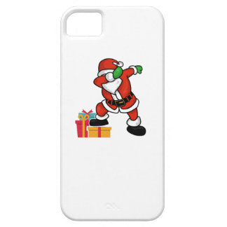Cute Santa dabbing on gift Christmas T Shirt Case For The iPhone 5