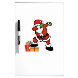 Cute Santa dabbing on gift Christmas T Shirt Dry Erase Board