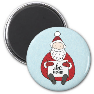 Cute Santa drawing Christmas Magnet