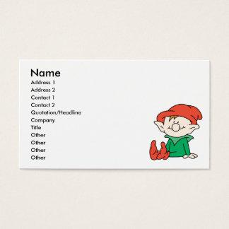 Cute Santa Elf Helper Business Card