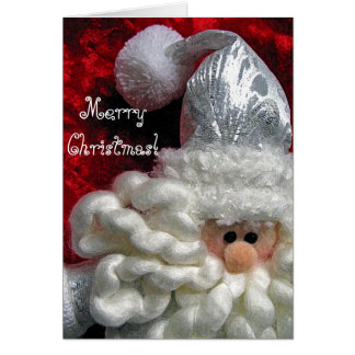 Cute santa face christmas card