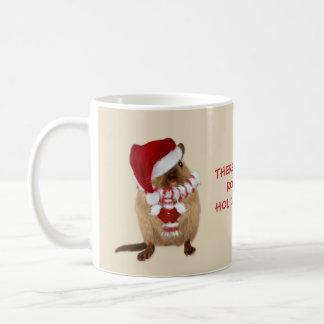 Cute Santa Gerbil Holiday Candy Humor Coffee Mug