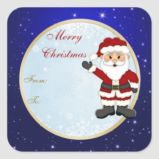 Cute Santa gift tag Christmas