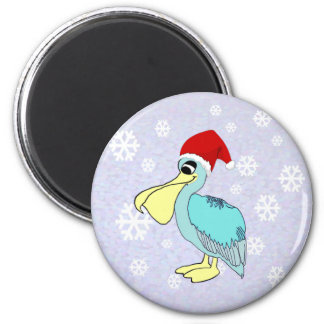 Cute Santa Pelican Magnets