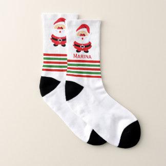 Cute Santa, red and green stripes Christmas 1