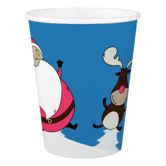 Cute Santa & Reindeer paper cups