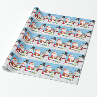 Cute Santa Snowman Christmas Xmas Gift