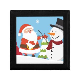 Cute Santa Snowman Christmas Xmas Gift Gift Box