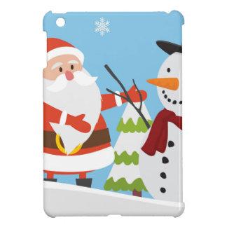 Cute Santa Snowman Christmas Xmas Gift iPad Mini Cases