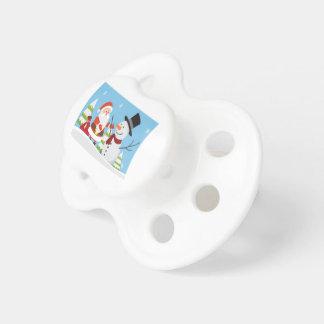 Cute Santa Snowman Christmas Xmas Gift Pacifier