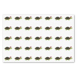 Cute Santa Turtle Tissue Paper