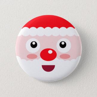Cute Santa Xmas Christmas Badge Pin Button