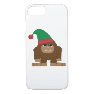 Cute Sasquatch Christmas Elf iPhone 7 Case