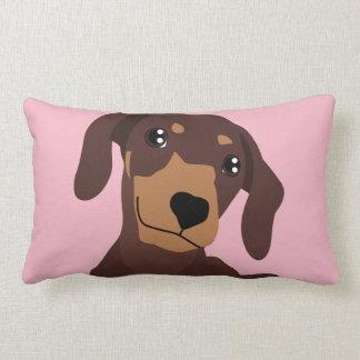 Cute Sausage Dog Dachshund Pillow Cushion