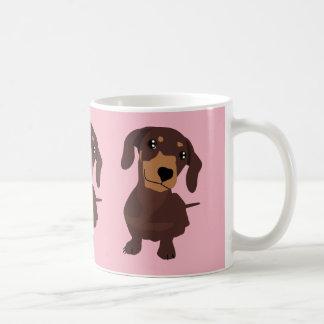 Cute Sausage Dog Dachshund Pink Mug