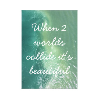 Cute Saying Ocean Canvas