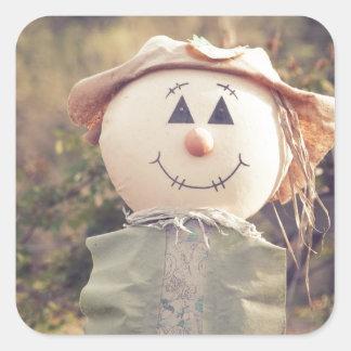 Cute Scarecrow Square Sticker