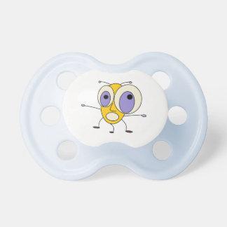 Cute Scared Bug Design Pacifier