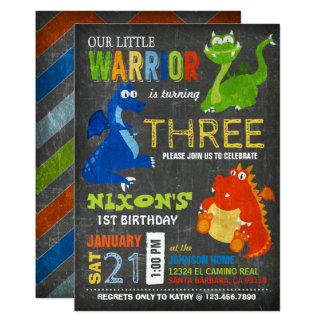 Cute Scary Little Dragons Birthday Card