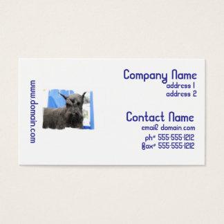Cute Schnauzer Business Cards