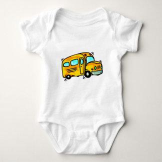 Cute School Bus Baby Bodysuit
