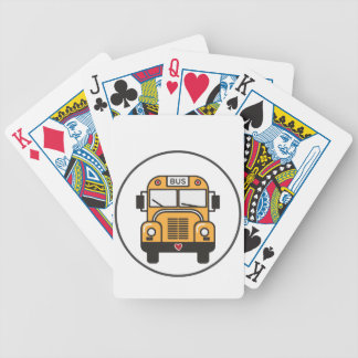 Cute School Bus Bicycle Playing Cards