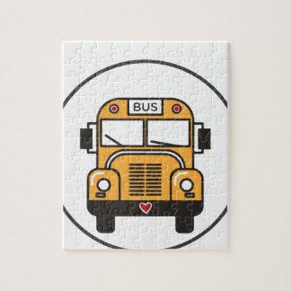 Cute School Bus Jigsaw Puzzle