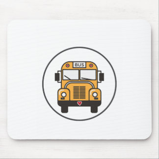 Cute School Bus Mouse Pad