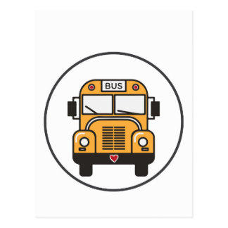 Cute School Bus Postcard