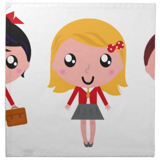 Cute school kids edition napkin