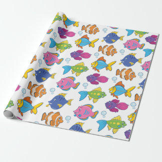 Cute School of Fish Wrapping Paper