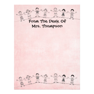 Cute School Teacher Letterhead Stationery