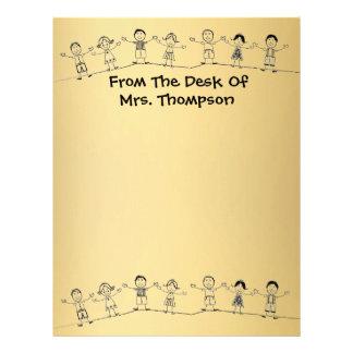Cute School Teacher Letterhead Stationery