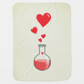 Cute Science Geek Flask Of Hearts Baby Blanket