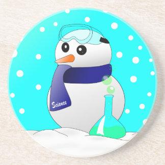 Cute Science Snowman Coasters