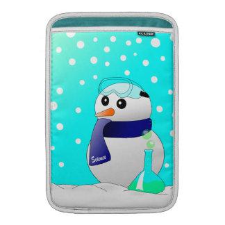 Cute Science Snowman MacBook Air Sleeves